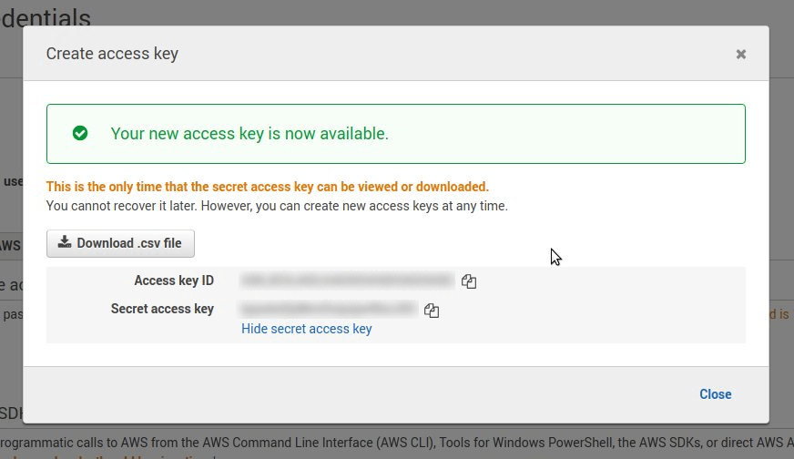 AWS S3 integration setup instructions - Blocks Edit