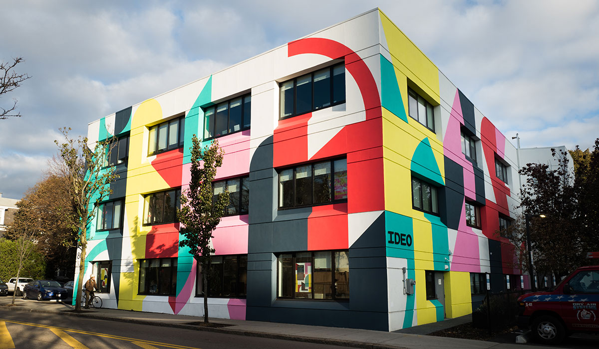 A colorful mural