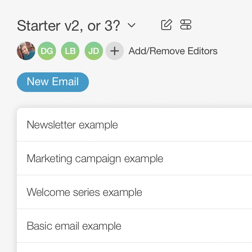 Email campaigns screenshot